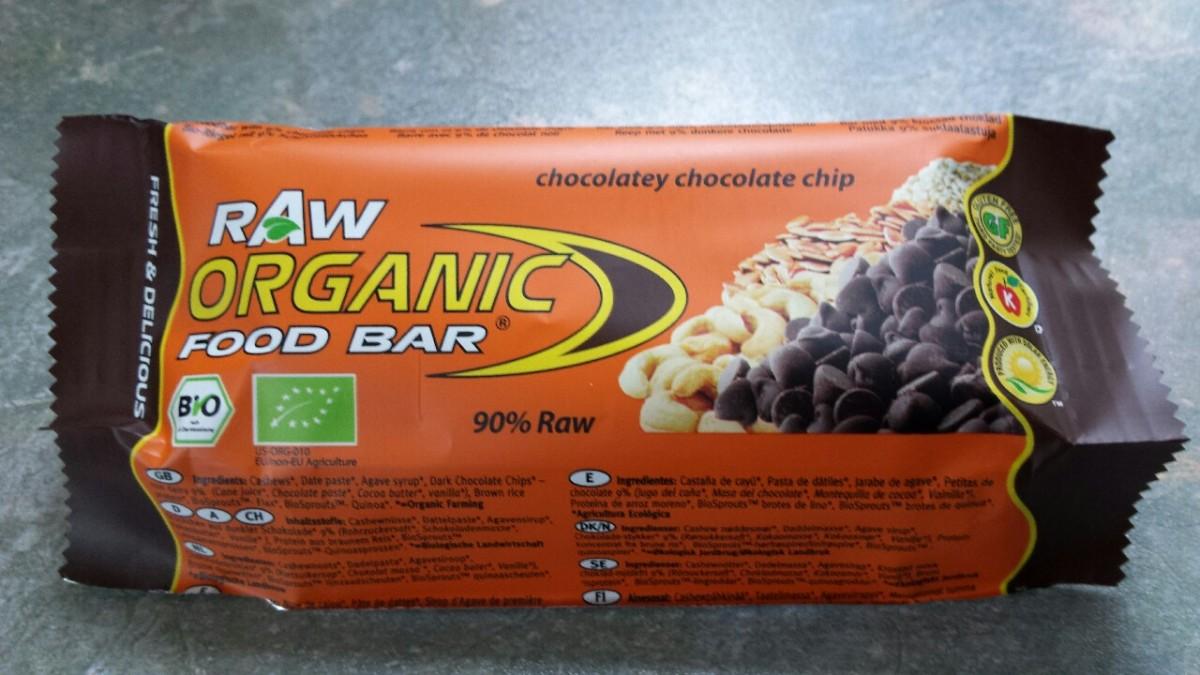 Raw Organic Food Bar (Chocolatey Chocolate Chipflavour)