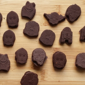 Star Wars hero shaped chocolates