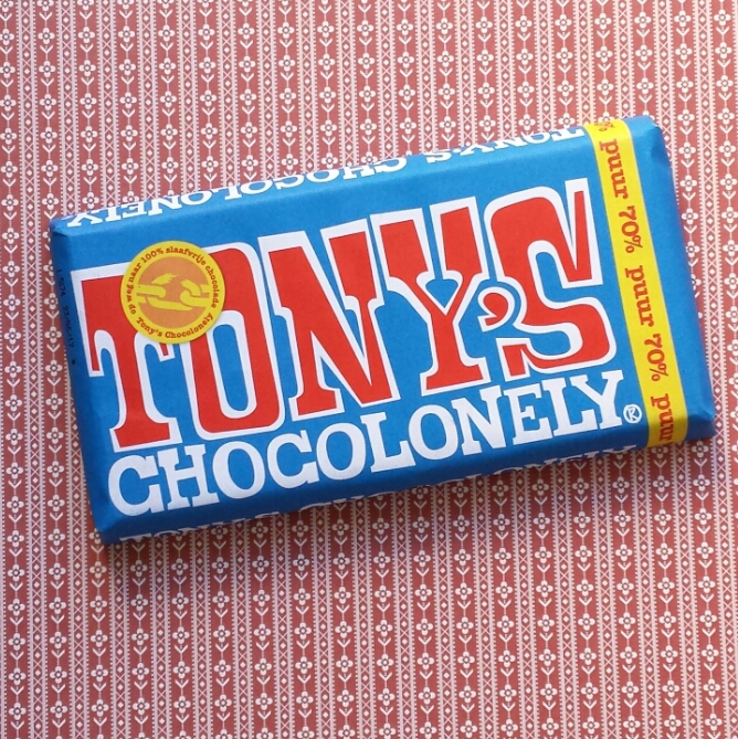 A bar of Tony's Chocolonely