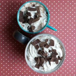 A Mummy Hot Chocolate and a Baby Hot Chocolate